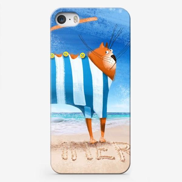 Чехол iPhone «Лето и кот»