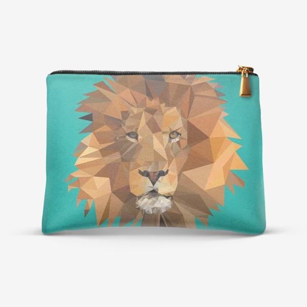 Косметичка «Полигональный лев»