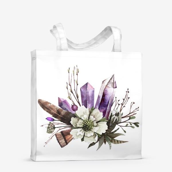Сумка-шоппер «Кристаллы и цветы»