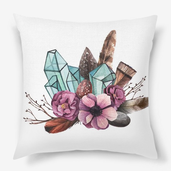 Подушка «Цветы и Кристаллы»