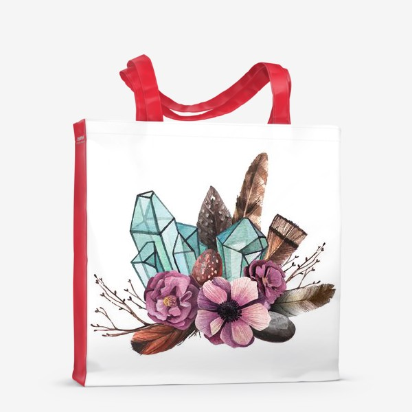 Сумка-шоппер «Цветы и Кристаллы»