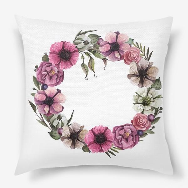 Подушка «Цветочный венок»