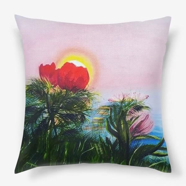 Подушка «любование солнцем»