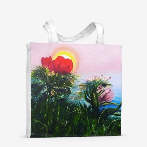 Сумка-шоппер «любование солнцем»