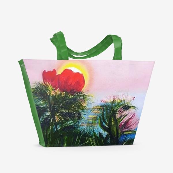 Пляжная сумка «любование солнцем»