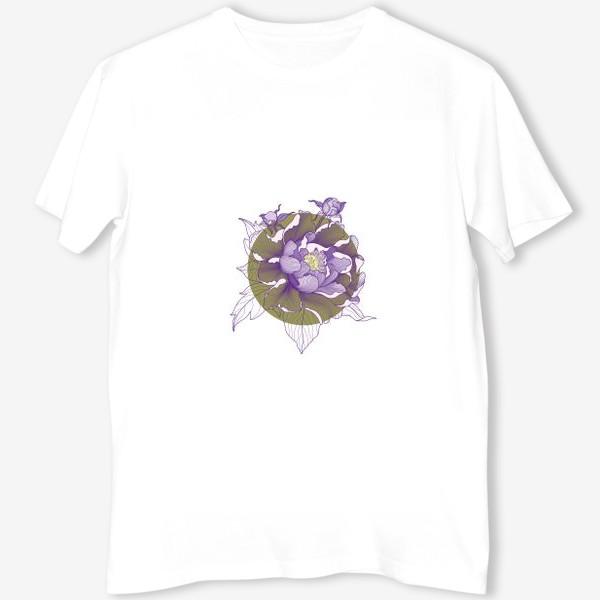 Футболка «Цветок пион»
