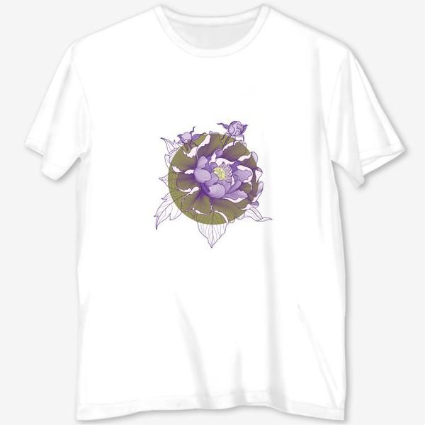 Футболка с полной запечаткой «Цветок пион»