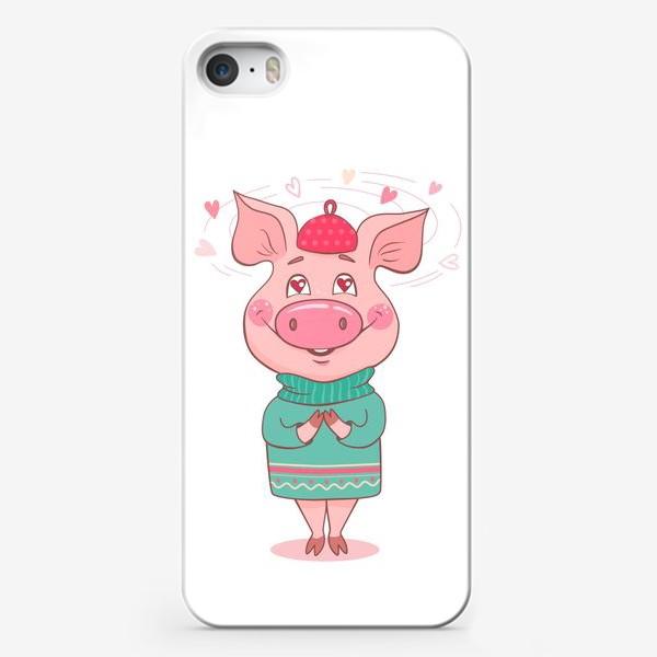 Чехол iPhone «Влюбленная Хрюня»
