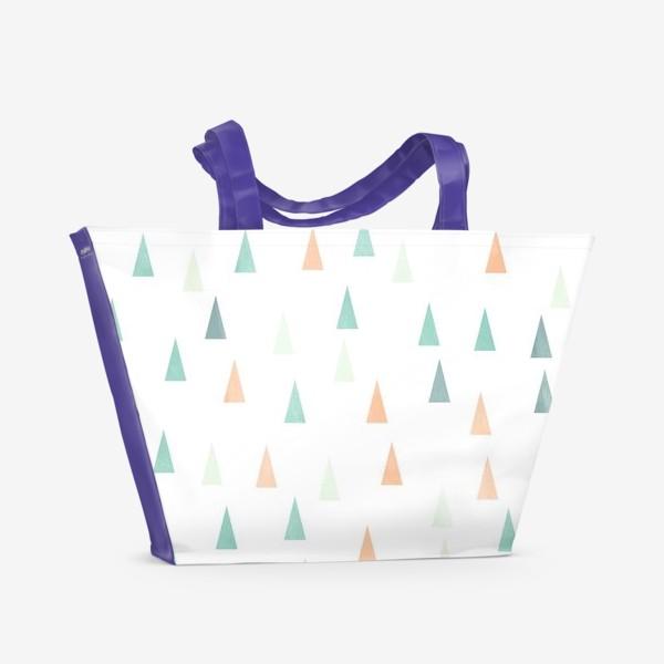 Пляжная сумка «Скандинавские елочки»