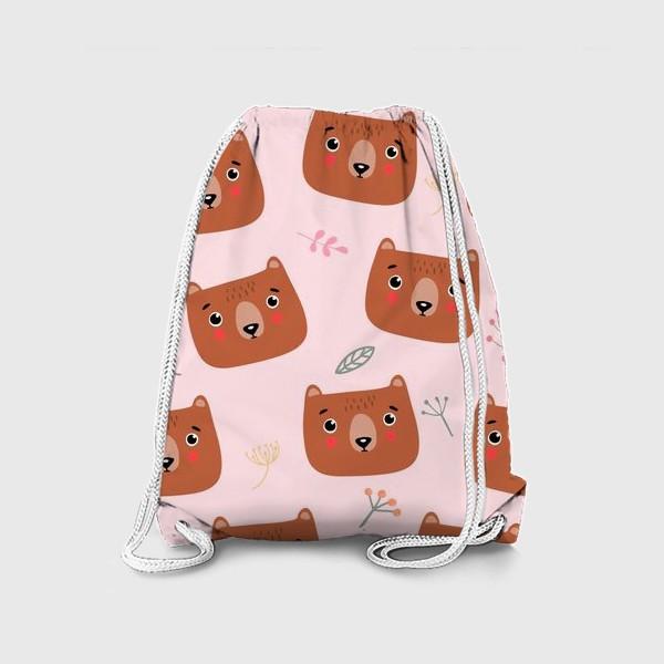 Рюкзак «медведи на розовом»