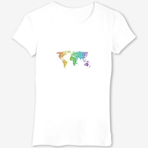 Футболка «Карта мира бабочек»