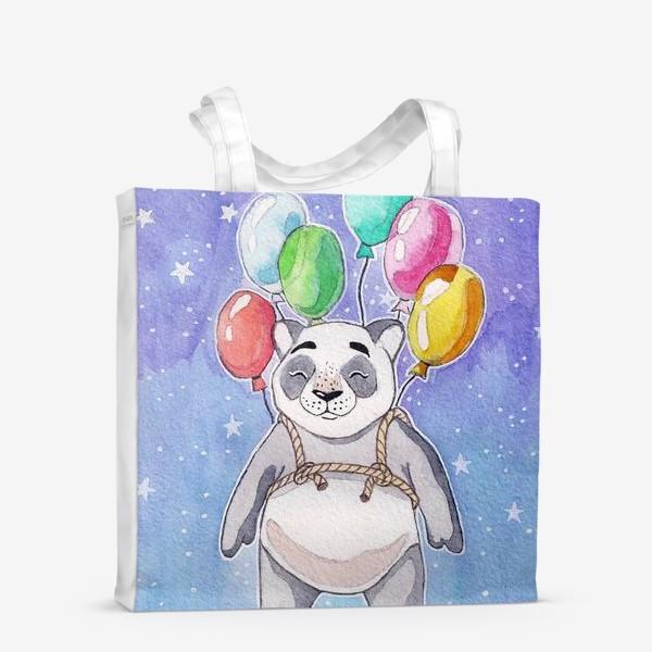 Сумка-шоппер «Панда-путешественница»