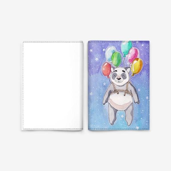 Обложка для паспорта «Панда-путешественница»