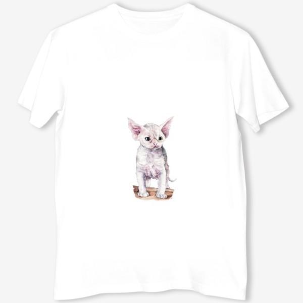 Футболка «белый котенок девонрекс»
