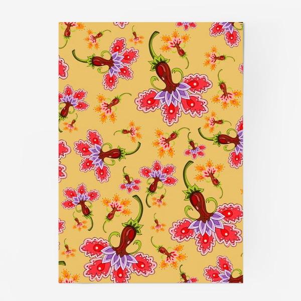 Постер «Разноцветные цветы»