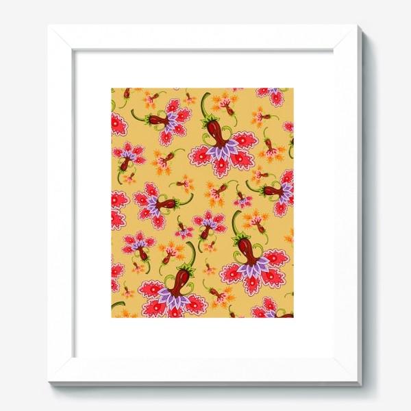 Картина «Разноцветные цветы»