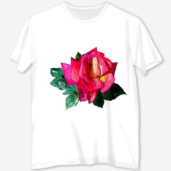 Футболка с полной запечаткой «Розовая роза»