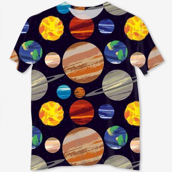 Футболка с полной запечаткой «Планеты солнечной системы»
