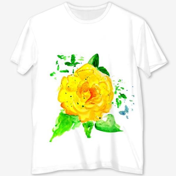 Футболка с полной запечаткой «Жёлтая роза»