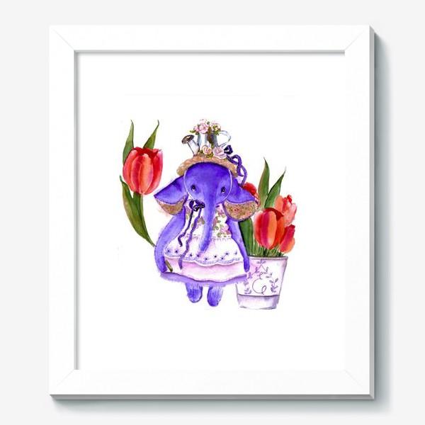 Картина «Фиолетовый слон»