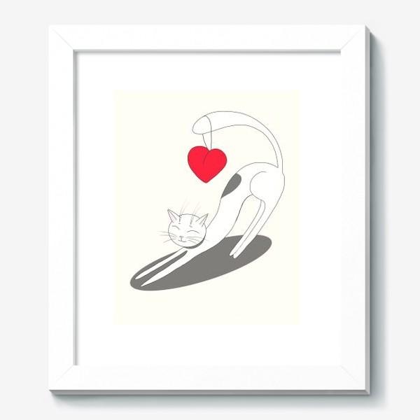 Картина «Влюбленный кот»