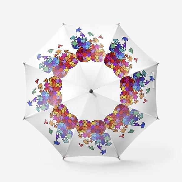 Зонт «Сердца-пазлы»