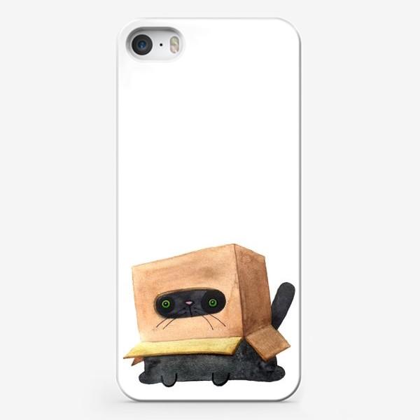 Чехол iPhone «Приключения кота и коробки 6»