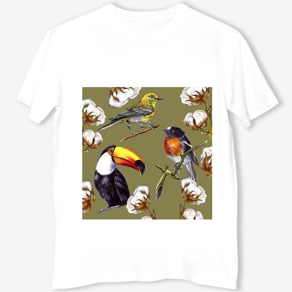 Футболка «Винтажные птицы»