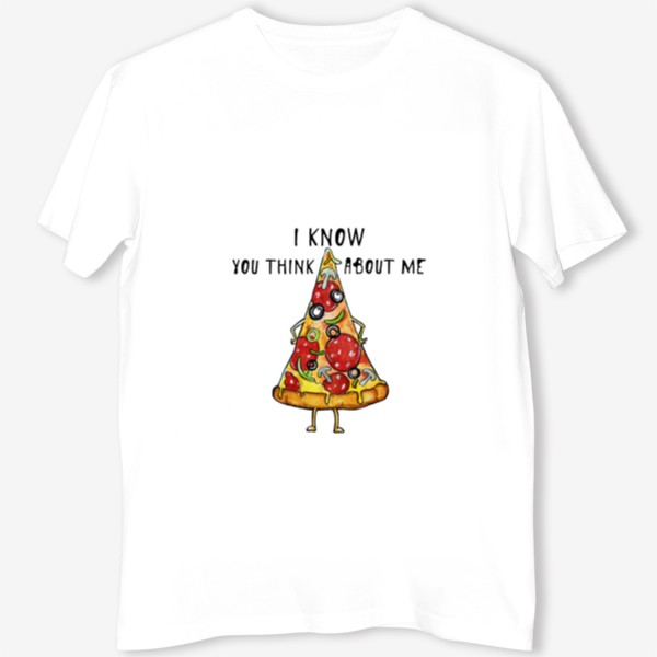 Футболка «Уверенная в себе Пицца »