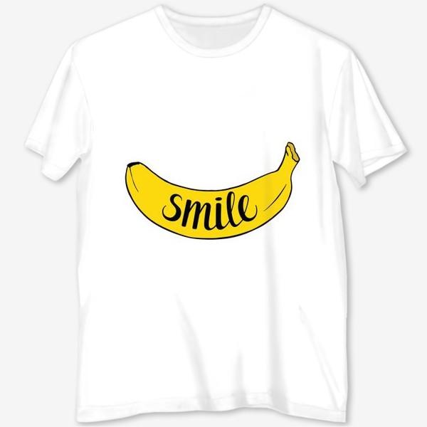 Футболка с полной запечаткой «Smile - банан»