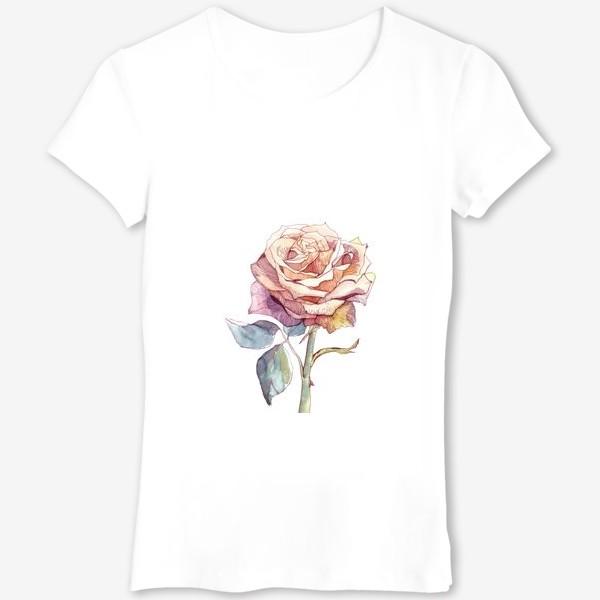 Футболка «Персиковая роза»