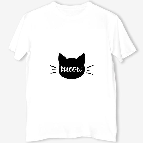 Футболка «Чёрная кошка. Cat meow»