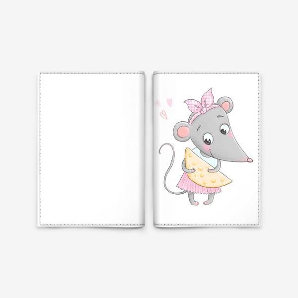 Обложка для паспорта «Милая мышка»