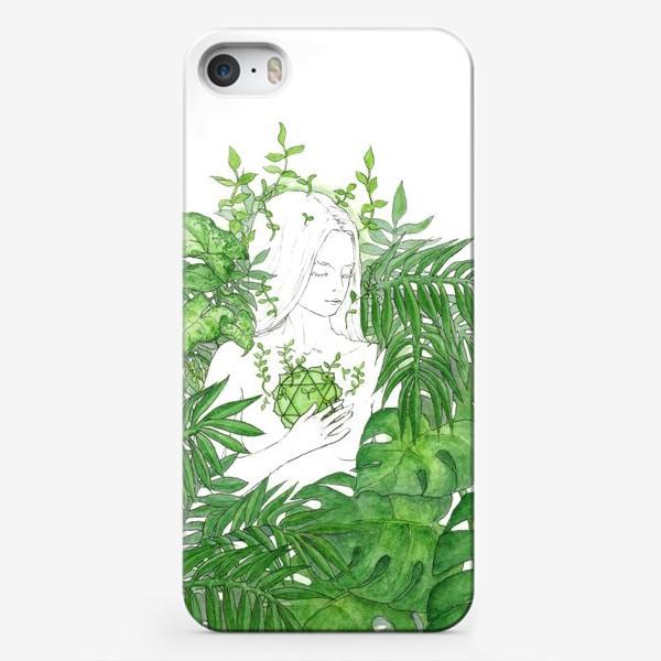 Чехол iPhone «Зеленая чакра Анахата»