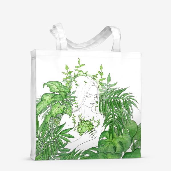 Сумка-шоппер «Зеленая чакра Анахата»