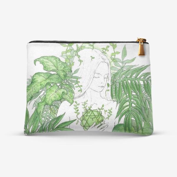 Косметичка «Зеленая чакра Анахата»