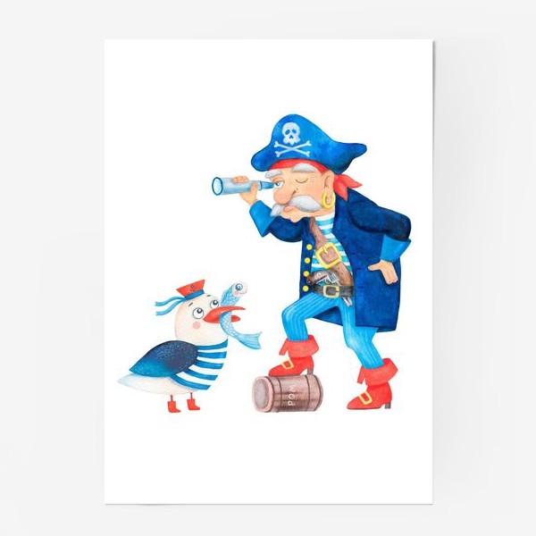 Постер «Пират и чайка»
