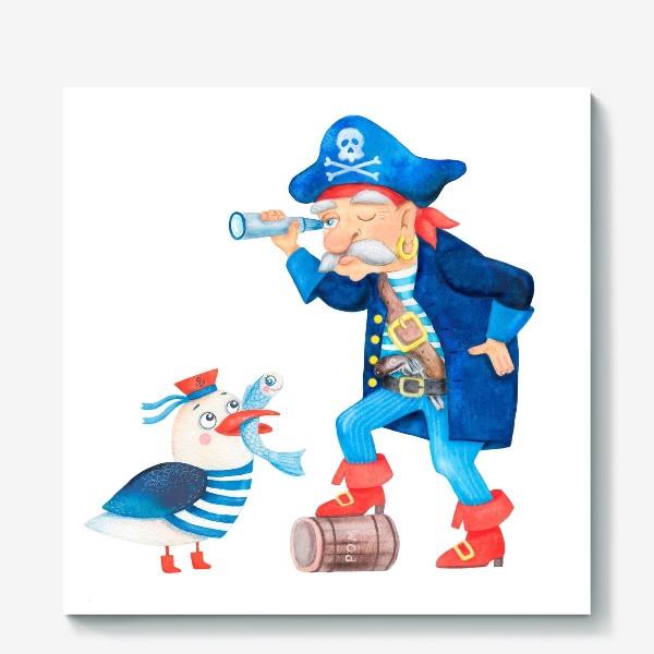 Холст «Пират и чайка»