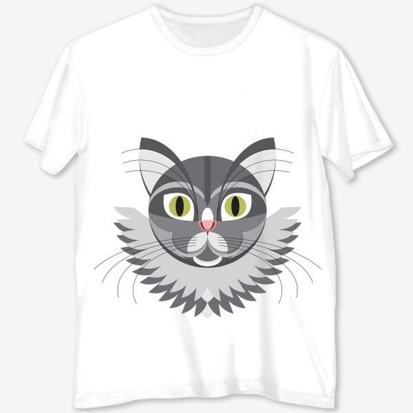 Постер серый кот
