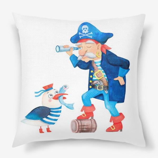 Подушка «Пират и чайка»