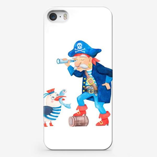 Чехол iPhone «Пират и чайка»