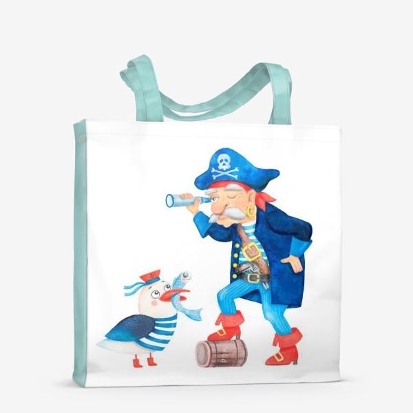 Сумка-шоппер «Пират и чайка»