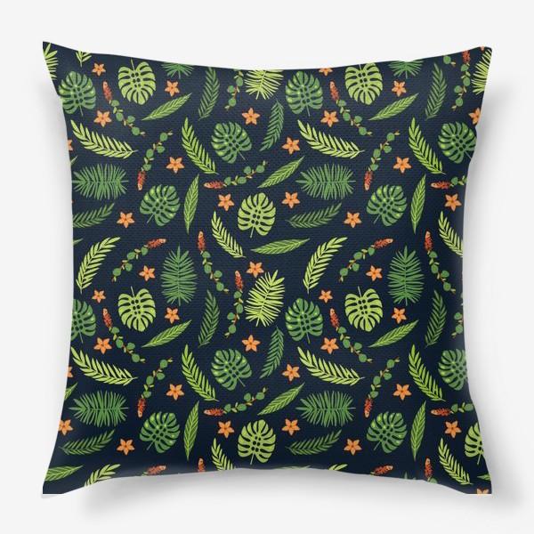 Подушка «Зеленые тропики»