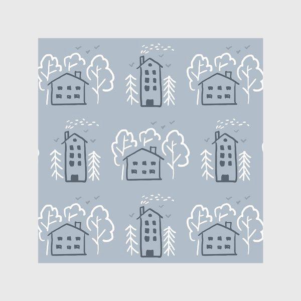 Скатерть «Зимние домики»