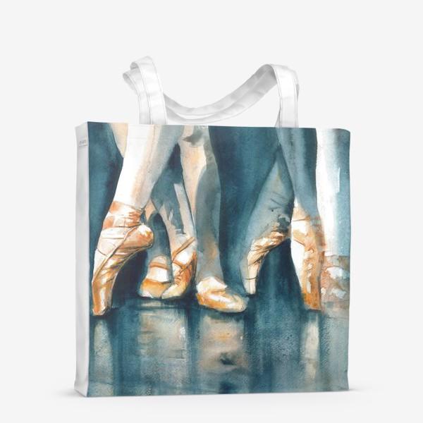 Сумка-шоппер «Акварельный принт Балет и Балерина»