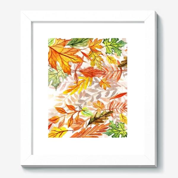 Картина «Осенние листья. Акварель»