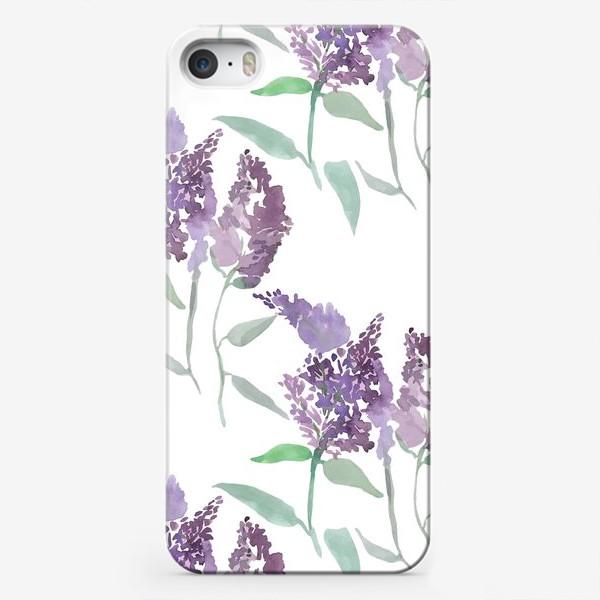 Чехол iPhone «Свежая сирень акварелью»