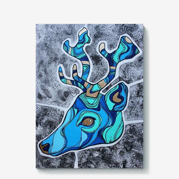 Холст «Голубой олень»