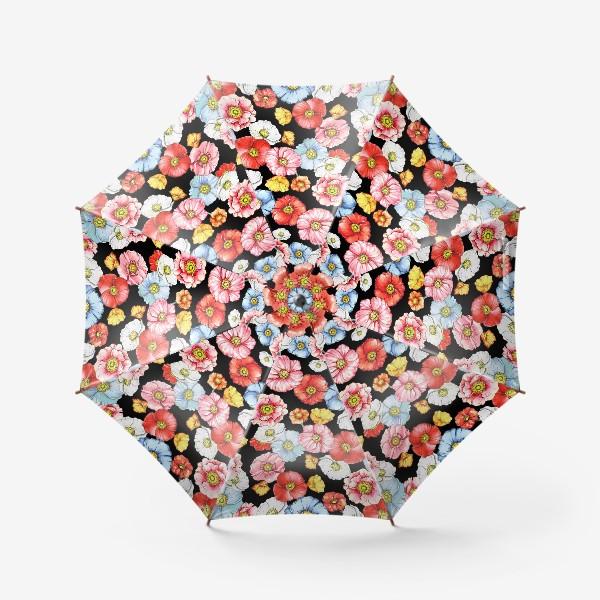 Зонт «Маки на черном»