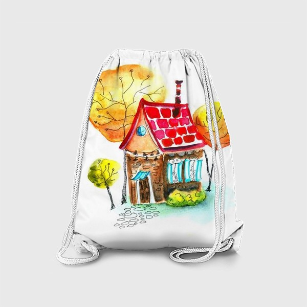 Рюкзак «Осенний домик. Акварель»